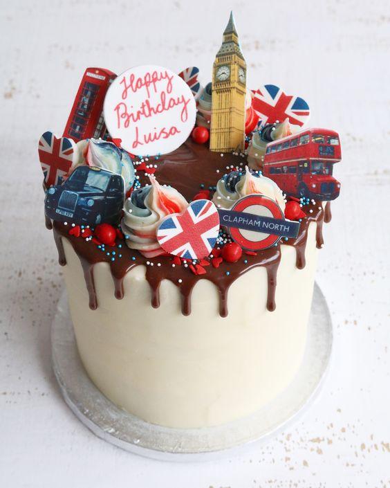 Tema de Londres para pastel de xv años