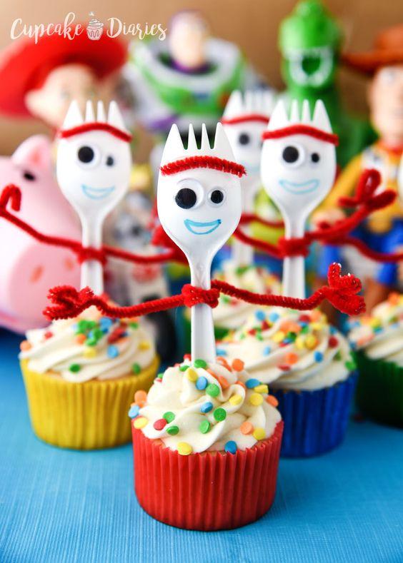 Cupcakes con temática de toy story