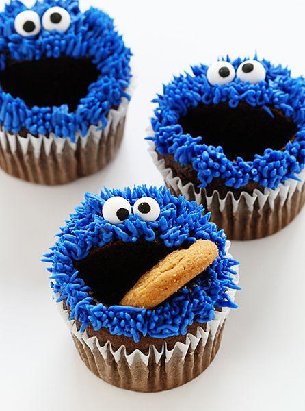 Cupcakes con decoración del monstruo come galletas