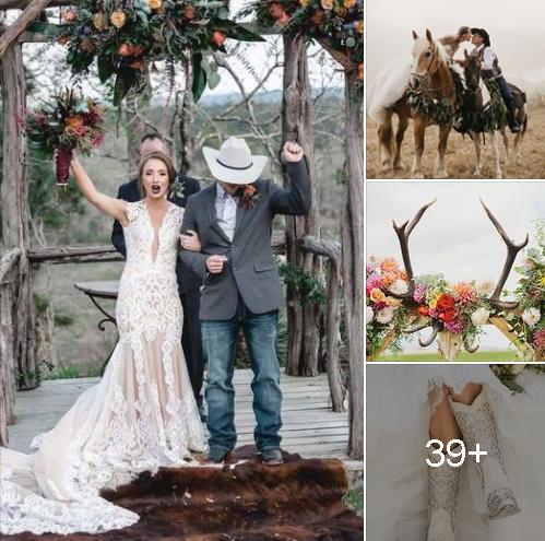 Hermosas ideas para esta original temática de boda vaquera