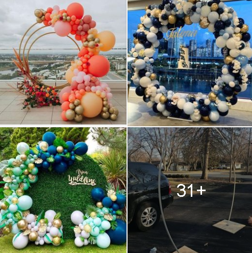 Ideas hermosas de decoración de aros con globos