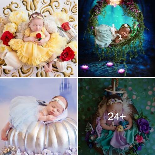 Sesión de fotos para tu bebé inspiradas en princesas