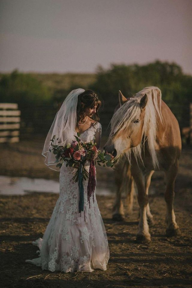 Sesión de novia con temática vaquera
