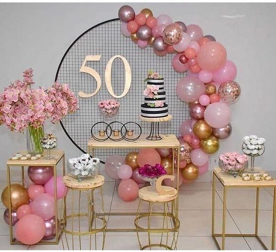 Fiesta de cumpleaños 50 para mujer