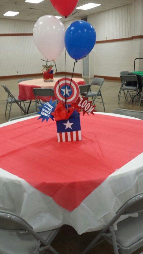 Centros de mesa de capitán américa
