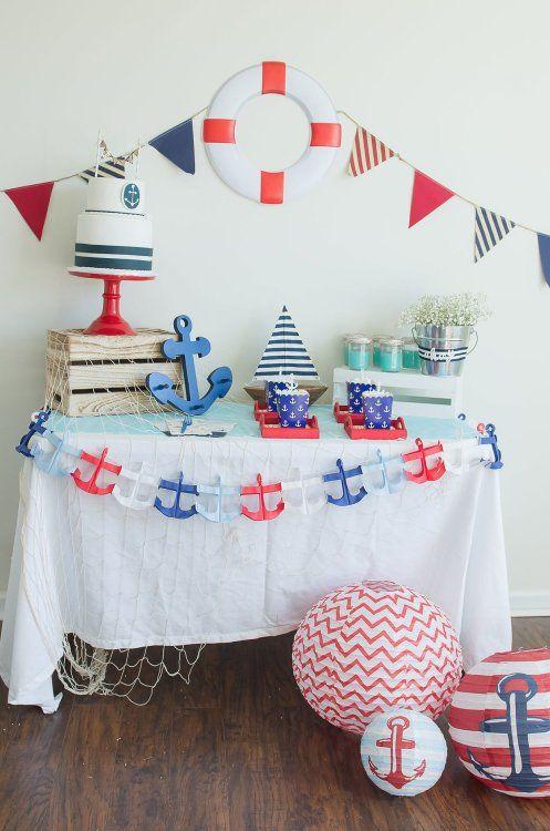 Decoración para fiesta de marinero