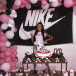 Decoración para fiesta de Nike