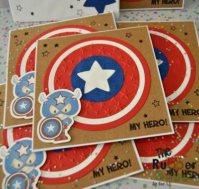 Diseños de invitaciones para fiesta de capitán américa