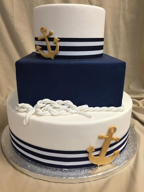 Diseños de pasteles para fiesta de marinero
