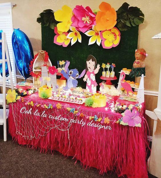 Fiesta temática de lilo y stitch
