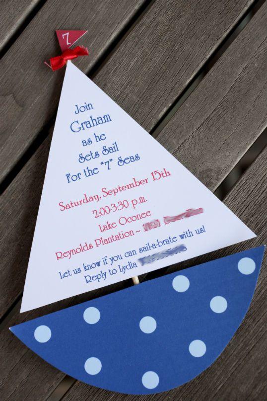 Invitaciones para fiesta de marinero