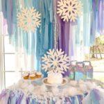 Mesas de postres para fiesta de frozen