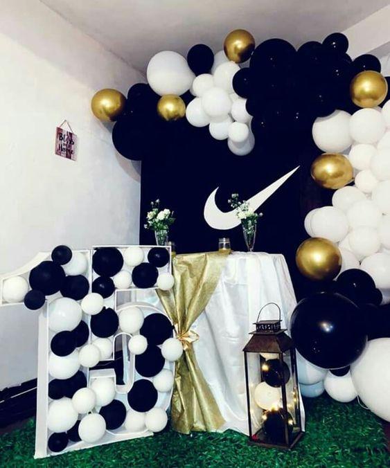 Mesas de postres para fiesta temática de Nike