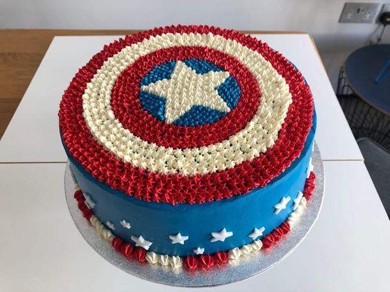 Pasteles de capitán américa