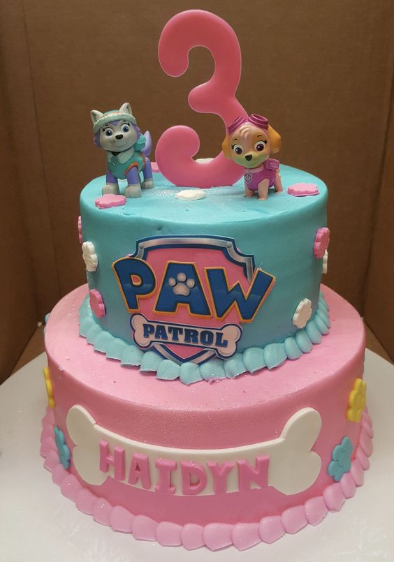 Pasteles de paw patrol para niña