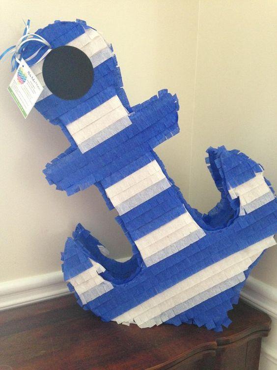 Piñatas para fiesta de marinero