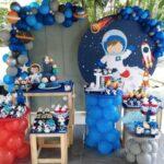 Decoración para fiesta de astronautas