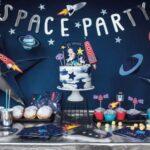 Mesas de postres para fiesta de astronautas