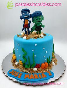 Diseño de pasteles de Luca Disney
