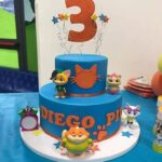Diseños de pasteles para fiesta de 44 gatos