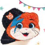 Piñatas para una fiesta temática de 44 gatos