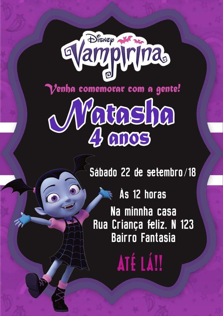 Invitaciones para fiesta de vampirina