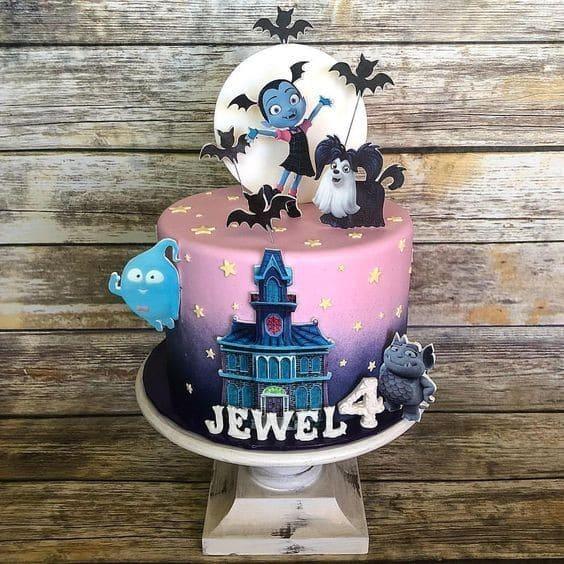 Diseños de pasteles para fiesta de vampirina