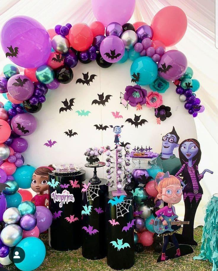 Decoración para fiesta temática de Vampirina