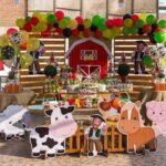 Decoración para fiesta de la granja de Zenón