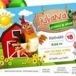 Invitaciones para fiesta de la granja de Zenón