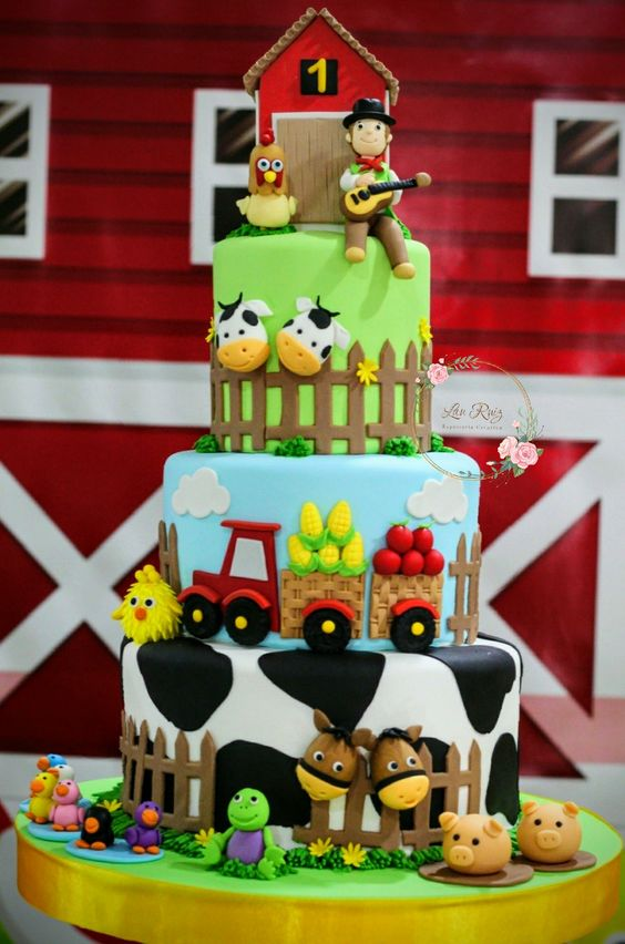 Diseños de pasteles de la granja de Zenón