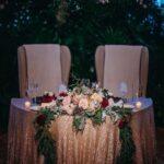 Hermosos arreglos para mesa de novios para boda en otoño