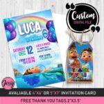 Invitaciones para fiesta temática de Luca