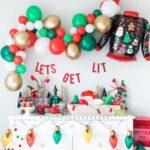 Mesas de postres para posadas navideñas