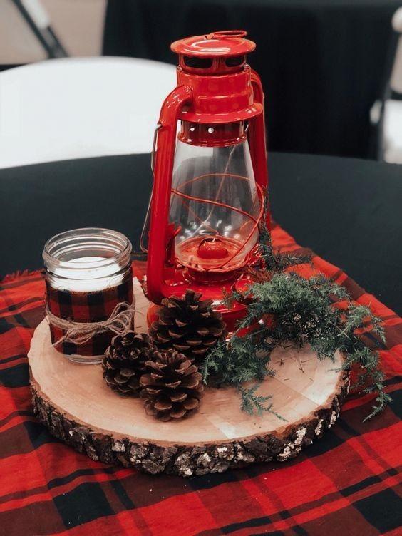 Centros de mesa para una posada navideña