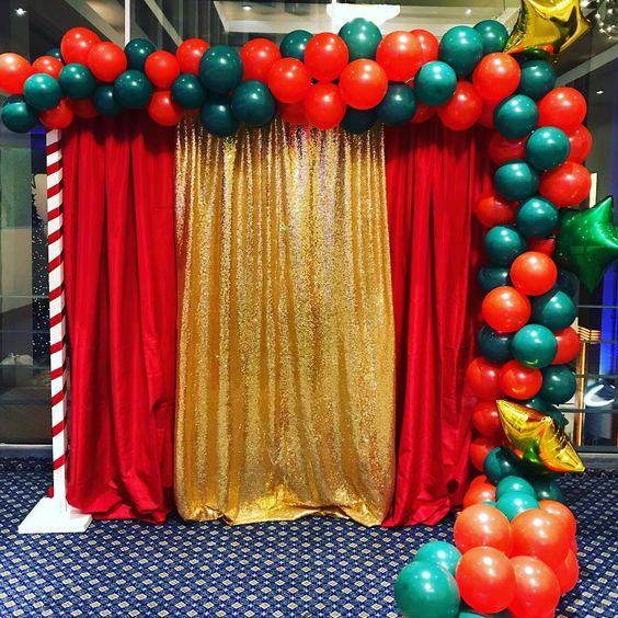 Decoración de posadas navideñas con globos