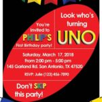 Invitaciones para fiesta temática de UNO