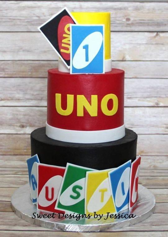 Diseños de pasteles para fiesta de UNO