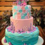 Diseños de pasteles para fiesta de sirena