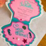 Invitaciones para una fiesta de sirena