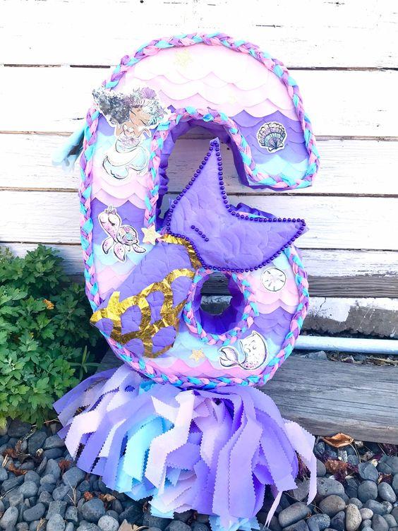 Piñatas para fiesta de sirena