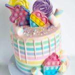 Diseños de pasteles para fiesta de pop it