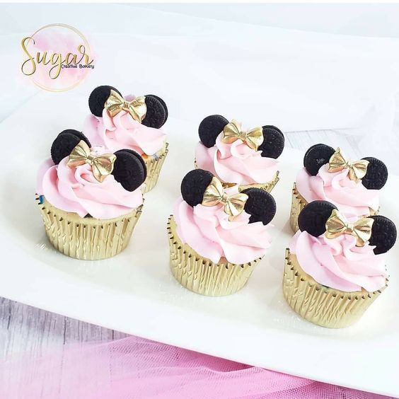 Postres personalizados para fiesta de Minnie Mouse