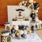 Fiesta de cumpleaños para hombre black and white